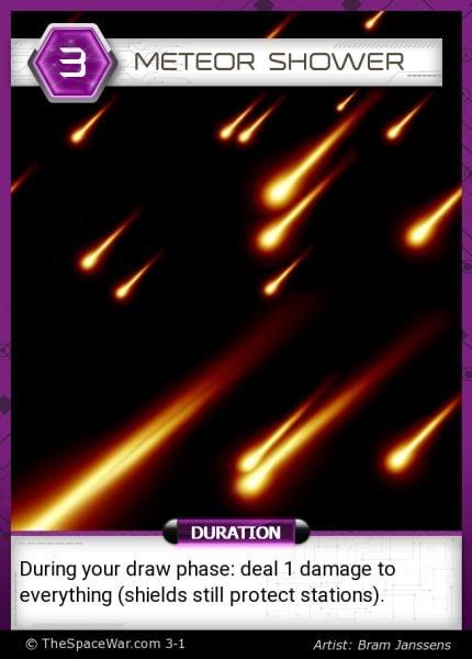 Card: Meteor Shower